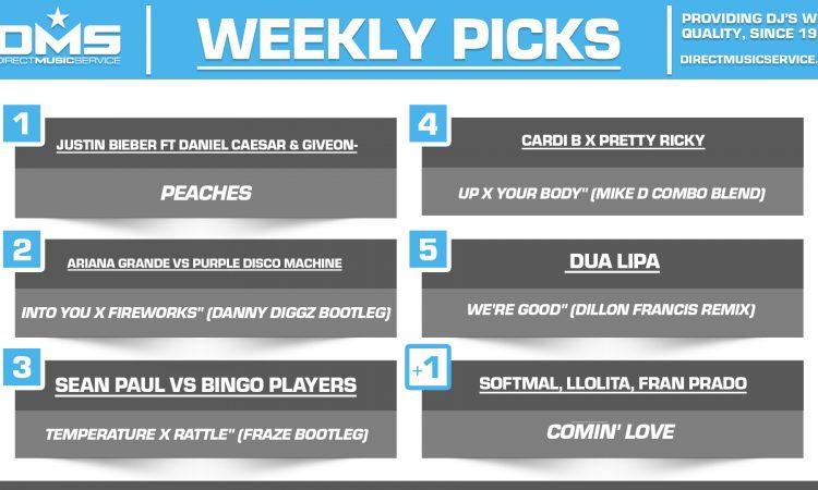 DMS TOP 5 PICKS OF THE WEEK 3-22-2021