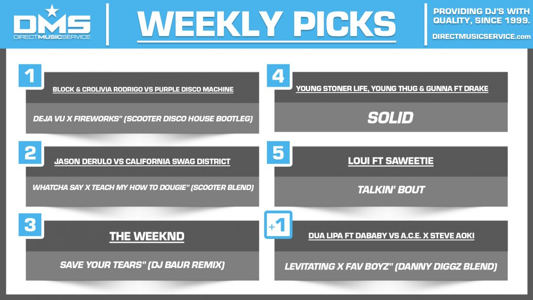 DMS TOP 5 PICKS OF THE WEEK 3-29-2021