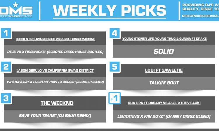 DMS TOP 5 PICKS OF THE WEEK 3-29-2021