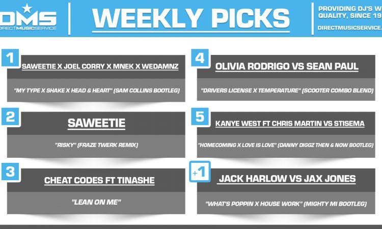 DMS TOP 5 PICKS OF THE WEEK 5-10-2021