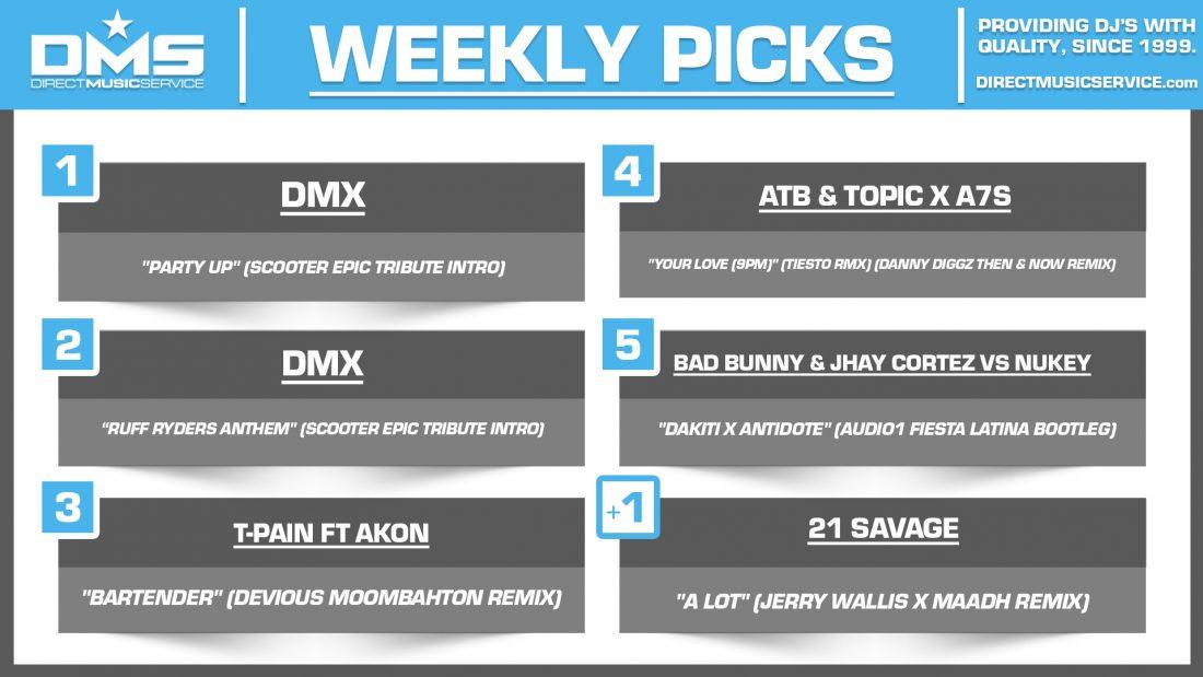 DMS TOP 5 PICKS OF THE WEEK 5-3-2021
