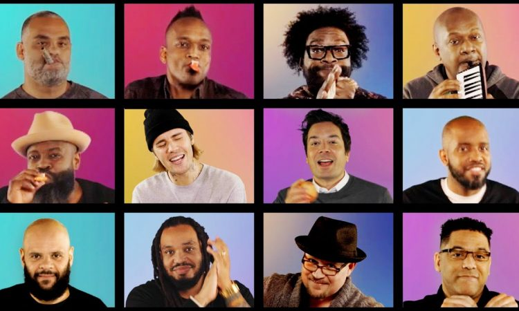 """Justin Bieber, Jimmy Fallon & The Roots Sing """"Peaches"""" (Classroom Instruments) 
