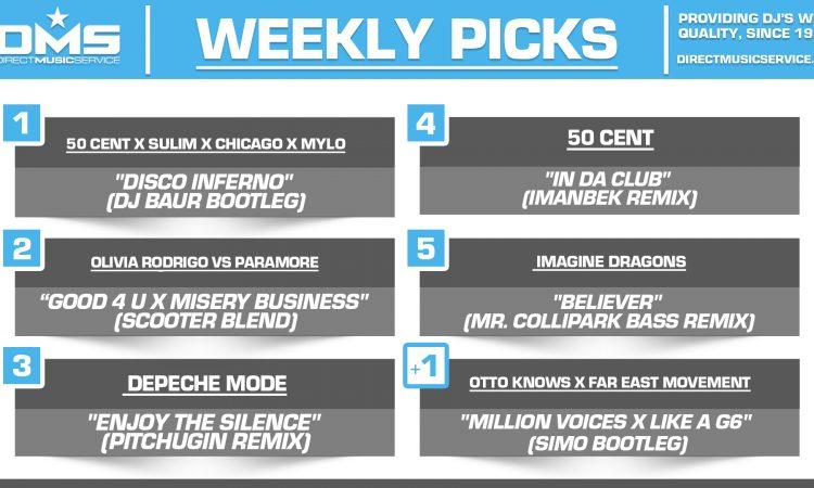 DMS TOP 5 PICKS OF THE WEEK 5-31-2021