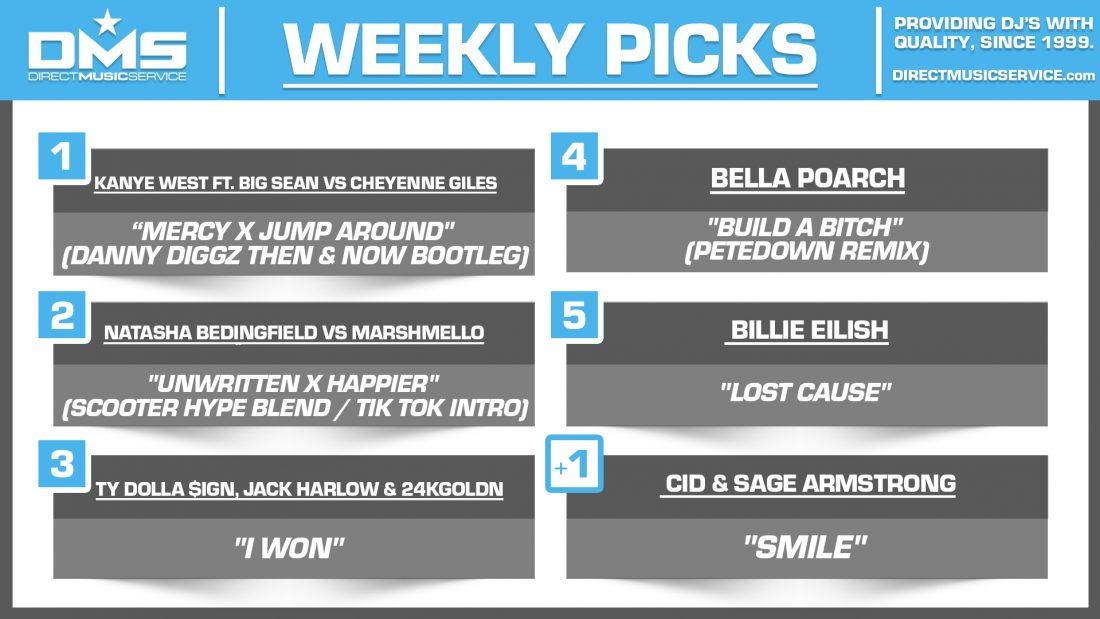 DMS TOP 5 PICKS OF THE WEEK 6-7-2021