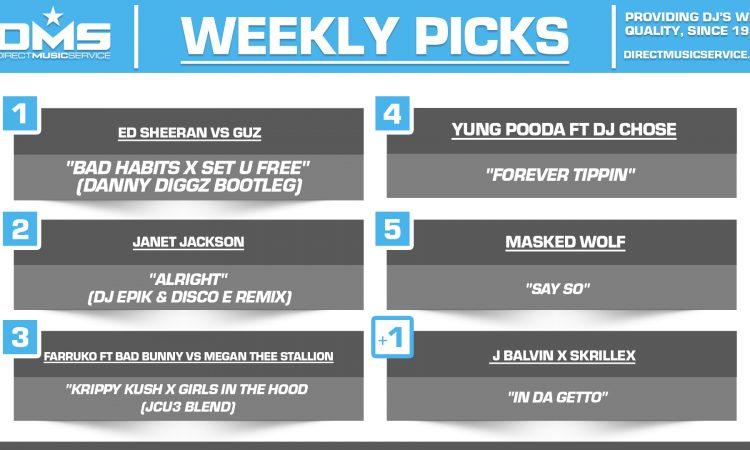 DMS TOP 5 PICKS OF THE WEEK 7-12-2021