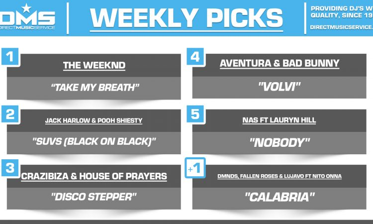 DMS TOP 5 PICKS OF THE WEEK 8-10-2021
