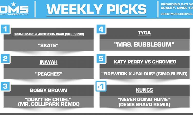 DMS TOP 5 PICKS OF THE WEEK 8-2-2021