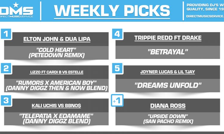 DMS TOP 5 PICKS OF THE WEEK 8-30-2021