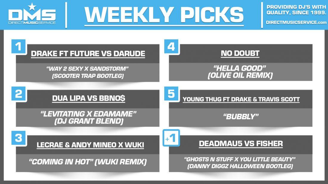 DMS TOP 5 PICKS OF THE WEEK 10-18-2021