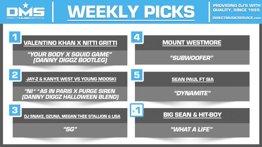 DMS TOP 5 PICKS OF THE WEEK 10-25-2021