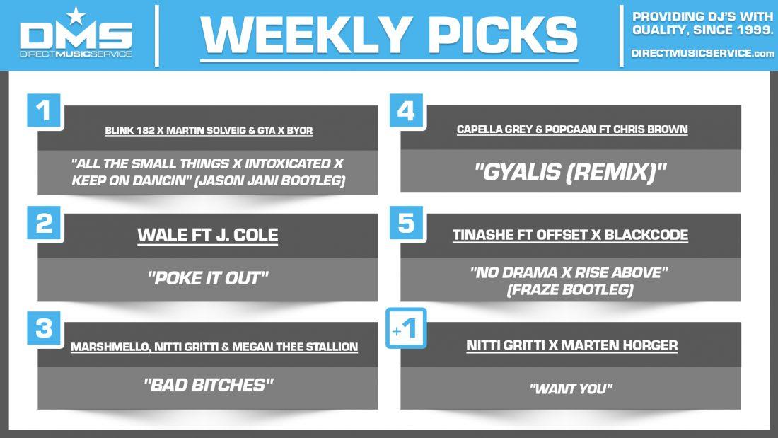 DMS TOP 5 PICKS OF THE WEEK 10-4-2021